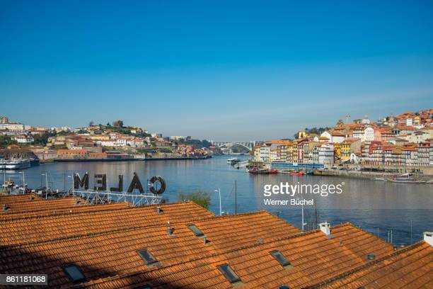 The city of Porto also called Oporto and its river Douro in Portugal on a sunny day in Spring time