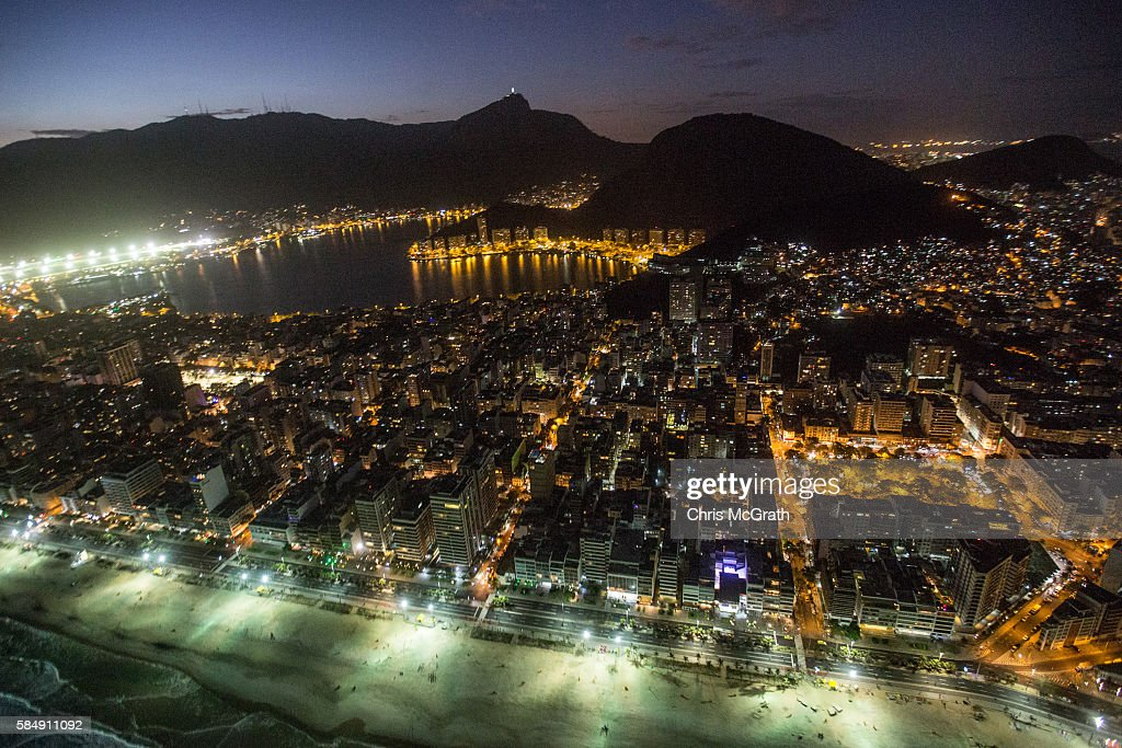 The city of Rio de Janerio is seen ahead of the 2016 Summer Olympic Games on July 31, 2016 in Rio de Janeiro, Brazil.
