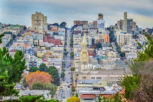 The city of San Francisco,California.USA : ストックフォト