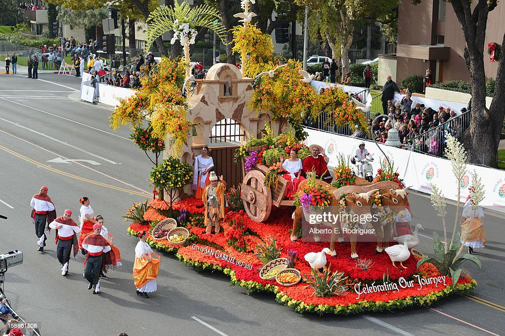 The City of San Gabriel float participates in the 124th Tournamernt of Roses Parade on January 1, 2013 in Pasadena, California.