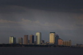 The city of Tampa's downtown skyline is seen on July 12 2012 in Tampa Florida Tampa will play host to the 2012 Republican National Convention at the...