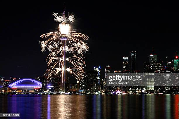 JULY 26 The city of Toronto lights up under the fireworks during the 2015 Pan Am Games closing ceremony in Toronto July 26 2015