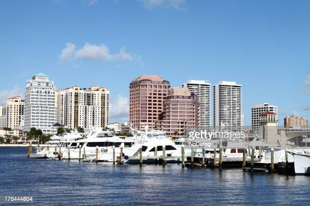 The city of West Palm Beach by the water