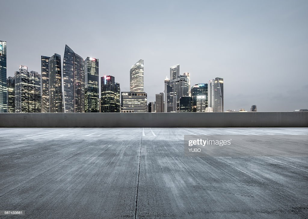 The City Parking Lot Stock Photo Getty Images