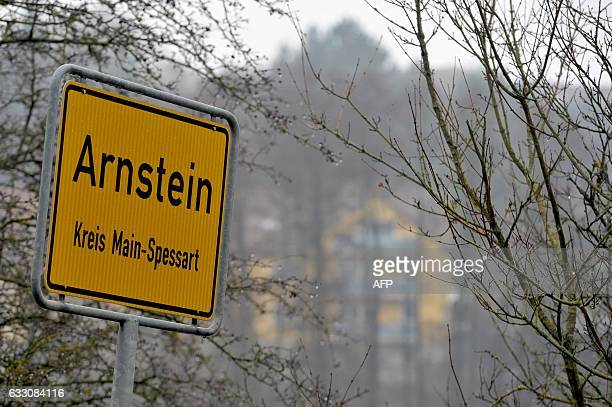 The city sign of Arnstein central Germany where six teenagers were found dead is pictured on January 30 2017 Six teenagers were found dead Sunday...