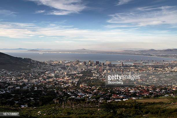 The city skyline is seen from Table Mountain in Cape Town South Africa on Wednesday April 24 2013 South Africa's gross domestic product is forecast...
