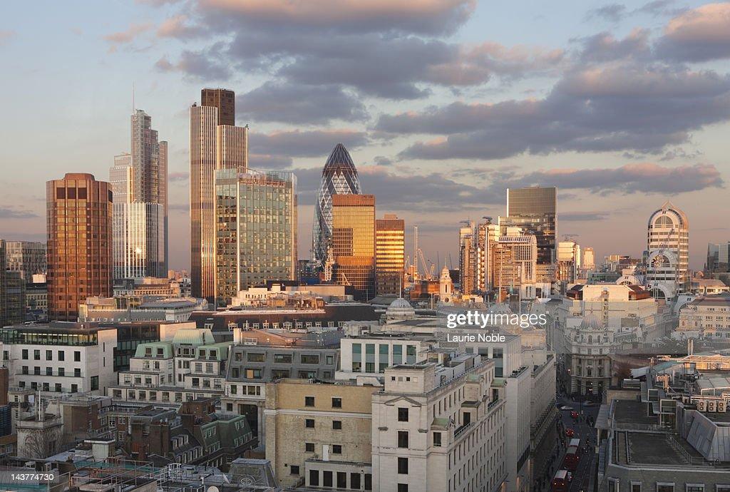 The City skyline: London: England : Stock Photo
