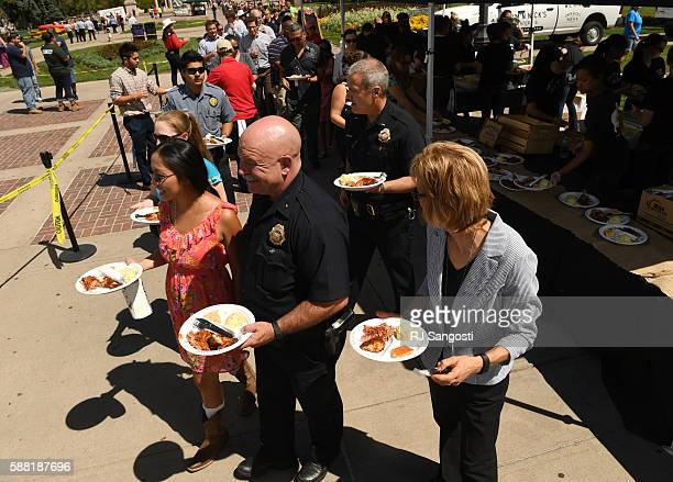 The City Spirit Picnic appreciation lunch for Denver City employees at Civic Center Park drew an estimated 5000 to 6000 people August 10 2016 The...