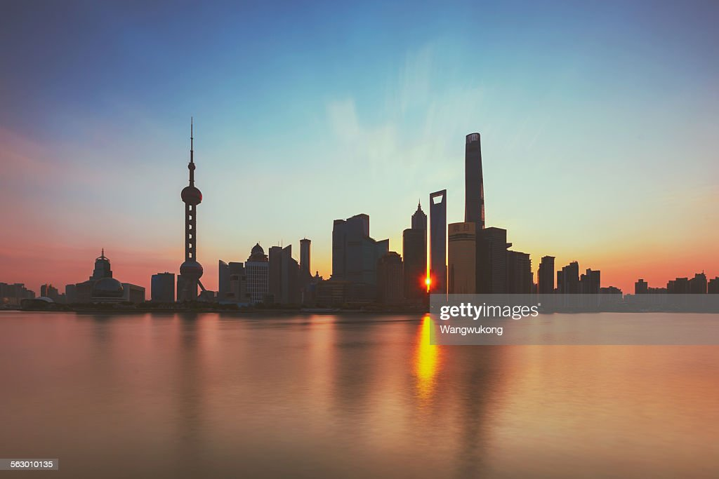 the city sunrise