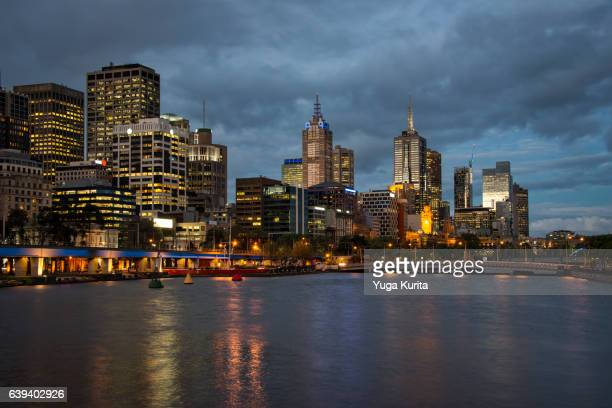 The Cityscape of Melbourne atBlue Hour