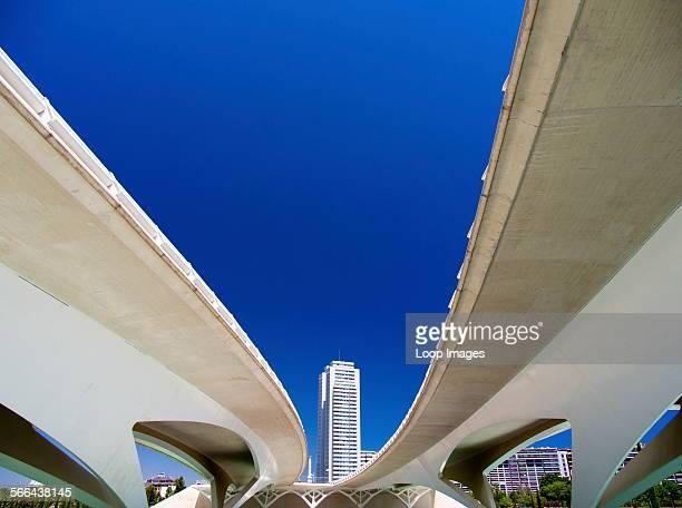 The Ciudad de las Artes y las Ciensias with elevated walkways