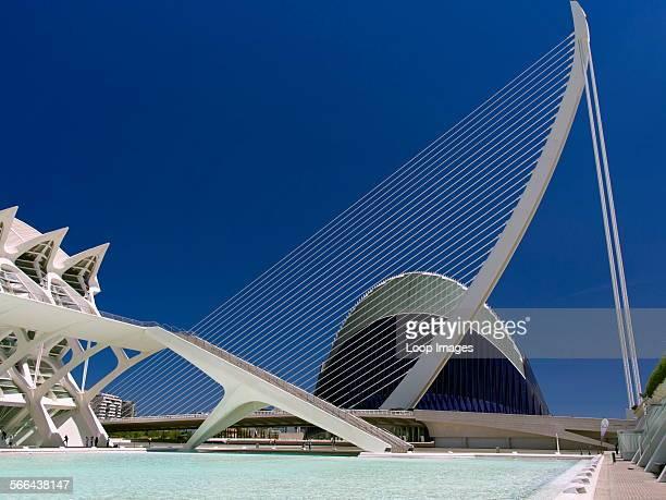 The Ciudad de las Artes y las Ciensias with the Agora plus suspension bridge and Museo de las Ciensias