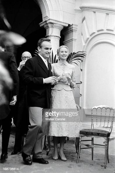 The civil marriage of Grace Kelly and Prince Rainier of Monaco in Monaco on April 18 1956