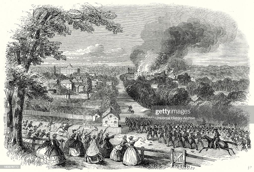 Reoccupation Of Jackson Mississippi By The Confederates 8 August 1863