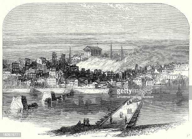 Richmond Virginia After Its Conquest The City Of Richmond From The James River 20 May 1865