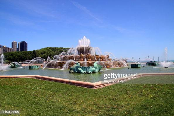 The Clarence Buckingham Fountain in Chicago Illinois on JUNE 01 2011