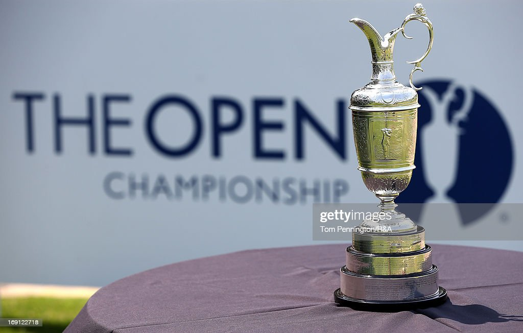 The Claret Jug is displayed during The Open Championship International Final Qualifying America at Gleneagles Golf and Country Club on May 20, 2013 in Plano, Texas.