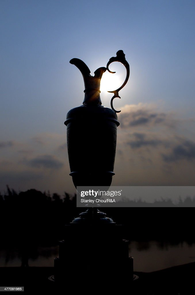The Claret Jug is displayed on the 1st hole during Day Two of The Open Qualifying Series Thailand 2014 at the Amata Spring Golf Club on March 7, 2014 in Bangkok, Thailand.