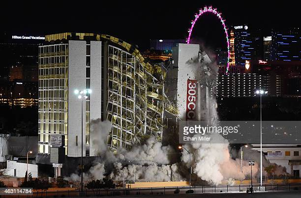The Clarion Hotel and Casino is imploded on February 10 2015 in Las Vegas Nevada It is the first casino implosion in Las Vegas since the New Frontier...