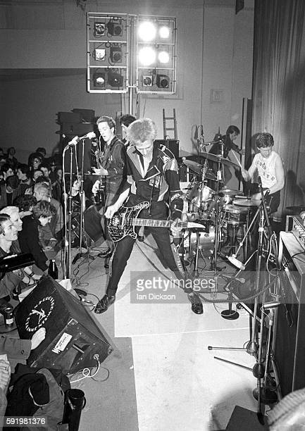 The Clash performing on stage at Harlesden Coliseum London 11 March 1977 LR Joe Strummer Mick Jones Paul Simonon and Terry Chimes