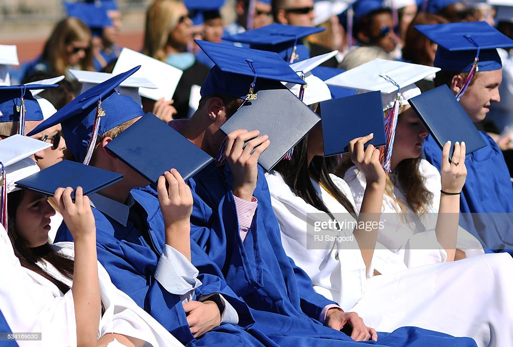 The class of 2016 has a bright future ahead of them, as the sun shines down on them, during the Cherry Creek High School graduation at Stutler Bowl, May 25, 2016. This is the school's sixty-first annual commencement.