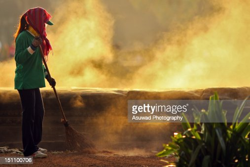 The cleaner : Stock Photo