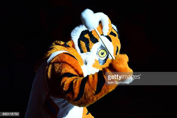 The Clemson Tiger mascot prior to 1st half action between the Clemson Tigers and the South Carolina State Bulldogs on December 13 2016 at Littlejohn...