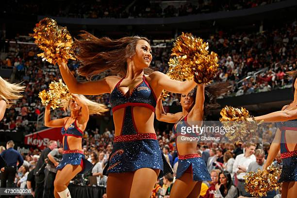 The Cleveland Cavaliers dance team performs in Game Five of the Eastern Conference Semifinals against the Chicago Bulls during the 2015 NBA Playoffs...