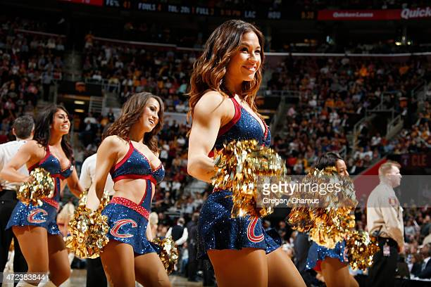 The Cleveland Cavaliers dancers perform during Game Two of the Eastern Conference Semifinals against the Chicago Bulls during the NBA Playoffs on May...