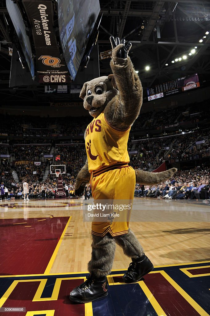 The Cleveland Cavaliers mascot during the game against the Sacramento Kings on February 8, 2016 at Quicken Loans Arena in Cleveland, Ohio.