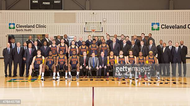The Cleveland Cavaliers pose for a team photo on April 1 2015 at the Cleveland Clinic in Cleveland Ohio NOTE TO USER User expressly acknowledges and...