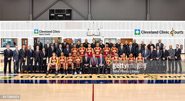 The Cleveland Cavaliers poses for a team photo at The Cleveland Clinic Courts on July 14 2016 in Independence Ohio NOTE TO USER User expressly...