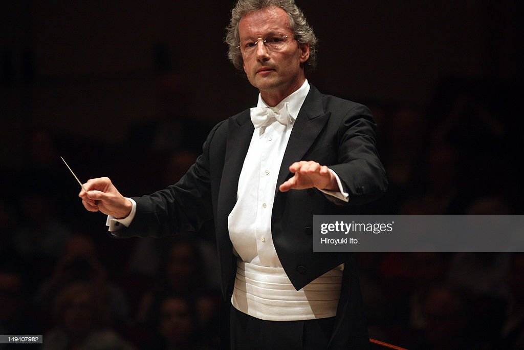The Cleveland Orchestra performs Strauss's 'Salome' at Carnegie Hall on Thursday night, May 24, 2012.Image shows Franz Welser-Most leading the Cleveland Orchestra in Strauss's 'Salome.'