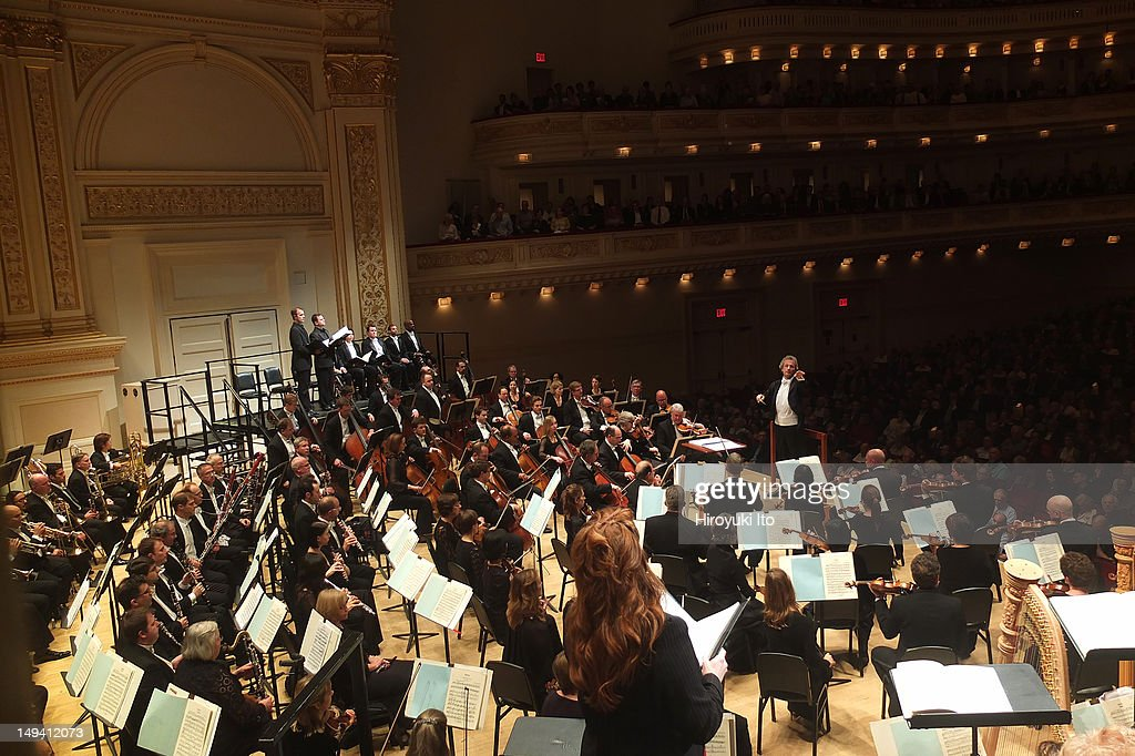 The Cleveland Orchestra performs Strauss's 'Salome' at Carnegie Hall on Thursday night, May 24, 2012.This image Franz Welser-Most leading the Cleveland Orchestra in Strauss's 'Salome.'