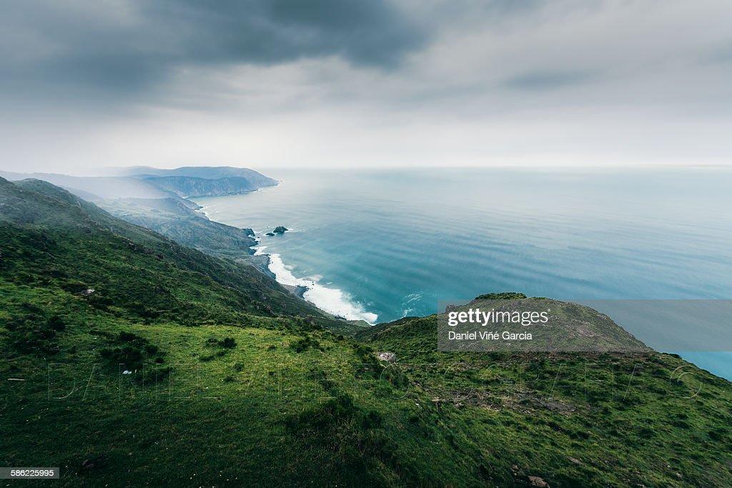 The cliffs of El Silencio Gavieira, near Cudillero