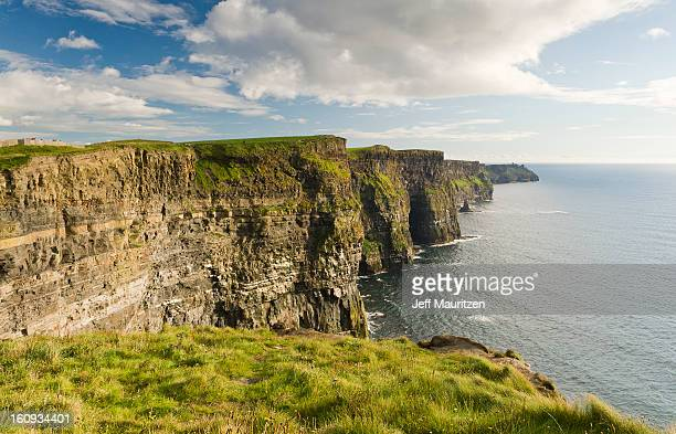 The Cliffs of Moher and the Atlantic Ocean.