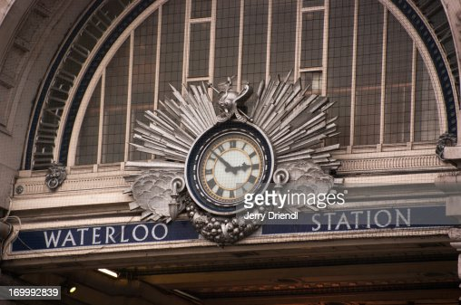 The clock over the entrance to Waterloo Station