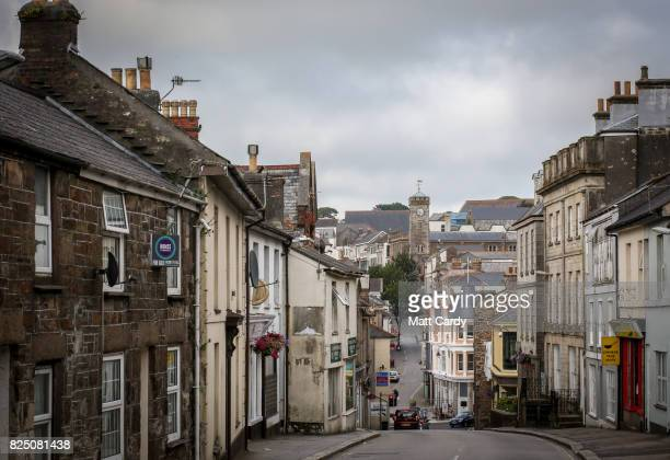 The clock tower in Redruth is seen on July 24 2017 in Cornwall England Figures released by Eurostat in 2014 named the British county of Cornwall as...