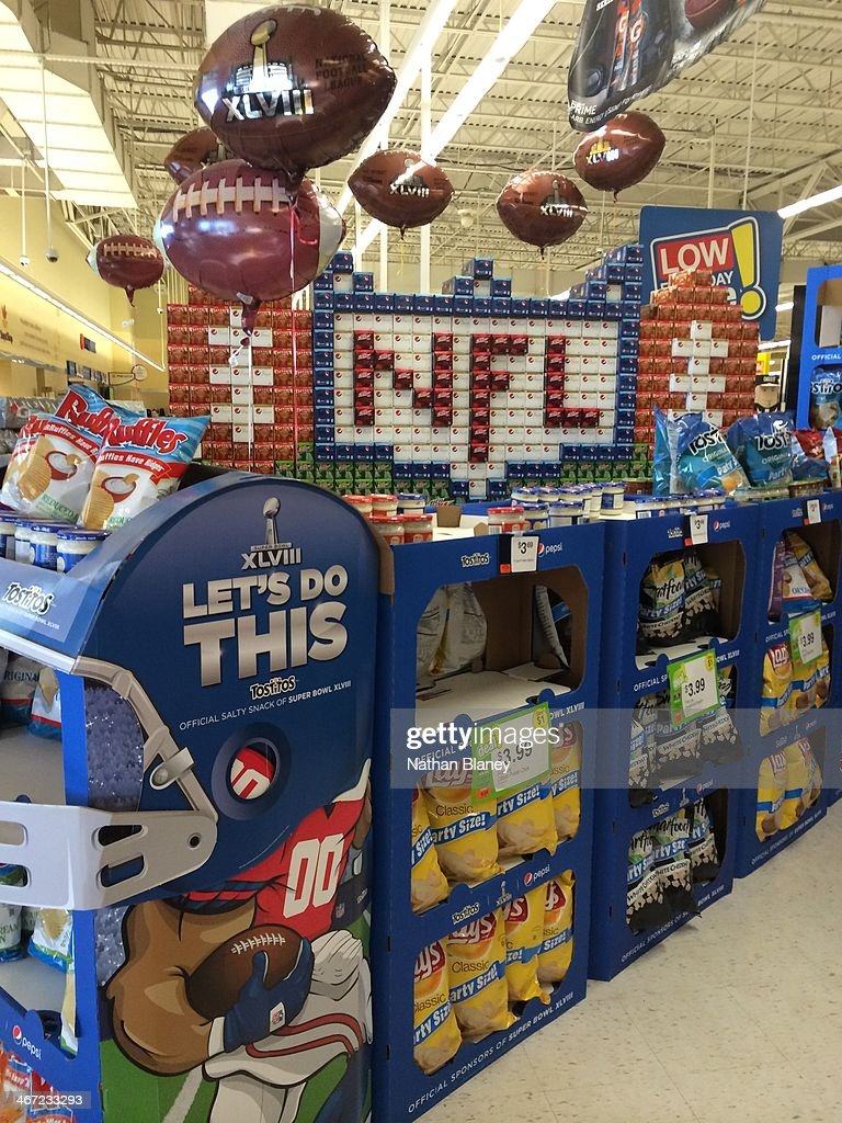 The closest supermarket to the stadium is stocked with supplies and spirit