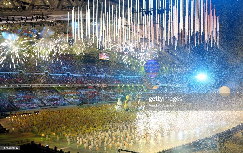 The Closing Ceremony of the Sochi 2014 Winter Olympics at Fisht Olympic Stadium on February 23, 2014.