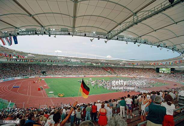 The closing ceremony of the World Championships in Athletics in the Gottlieb Daimler Stadium Stuttgart 1993