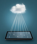 The cloud network on tablet Computer.