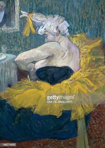 The clowness ChaUKao artist of the Moulin Rouge by Henri de Toulouse Lautrec oil on cardboard 64x49 cm Paris Musée D'Orsay