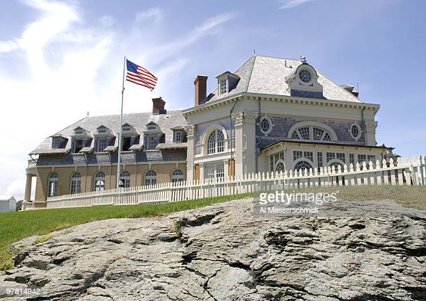 The clubhouse at Newport Country Club site of the 2006 U S Women's Open in Newport Rhode Island June 26 2006 Recent rains flooded sections of the...