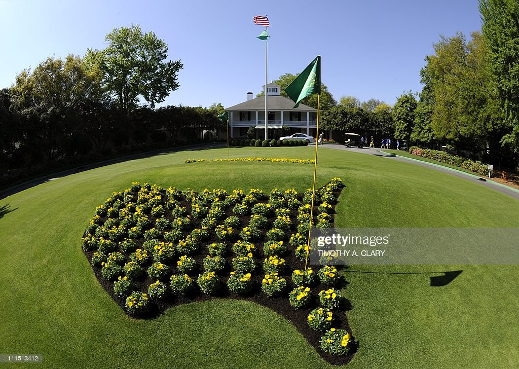 The Clubhouse during a practice round prior to the 2011 Masters Tournament at Augusta National Golf Club April 4 2011 in Augusta Georgia AFP PHOTO /...