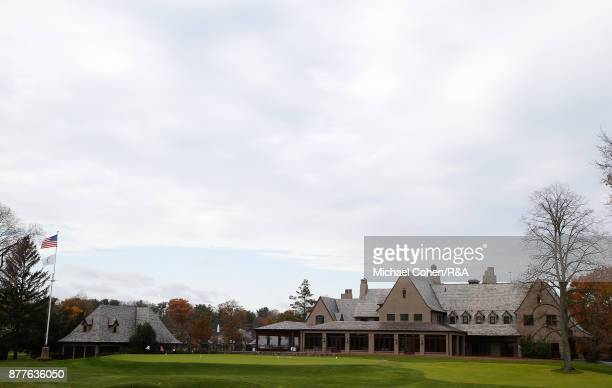 The clubhouse is seen during Curtis Cup practice at Quaker Ridge GC on November 22 2017 in Scarsdale New York
