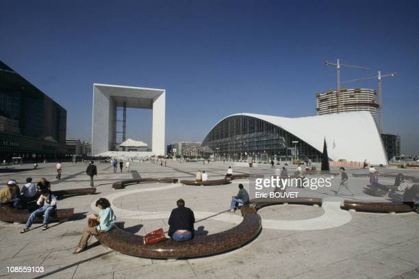 The CNIT and the Grande Arche in Paris France on September 25th 1989