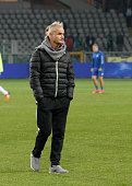 The coach of cesena team Massimo Drago before the Tim Cup match between Torino FC and AC Cesena at the Olympic Stadium of Turin on decenber 01 2015...