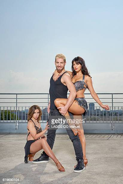 the coachs of the TV Show Danse avec les Stars with Marie Denigot YannAlrick Morteuil and Candice Pascal pose for Paris Match on september 23 2016 in...