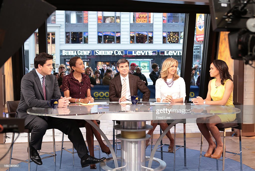 AMERICA - The co-anchors report on 'Good Morning America,' 5/7/13, airing on the ABC Television Network. (Photo by Fred Lee/ABC via Getty Images) JOSH